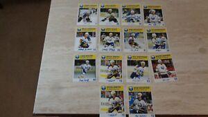 Lot-of-14-Diff-1987-88-Blue-Shield-Buffalo-Sabres-NHL-Hockey-Postcards