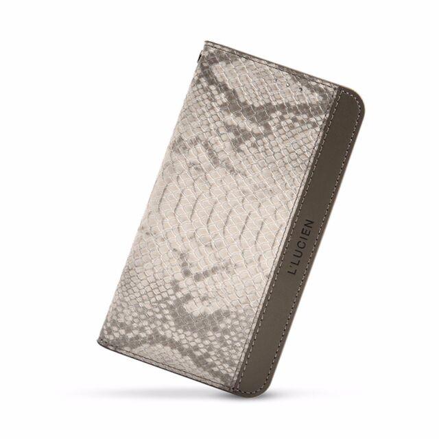 Neu Luxus Echt Leder Flip Case Cover Tasche Schutz Hülle für Apple iPhone 6 Plus