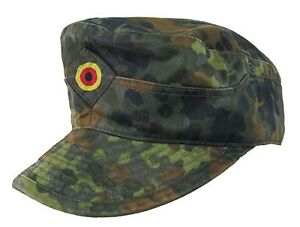 Original-Flecktarn-Camouflage-Field-Cap-Army-Military-Surplus-Peaked-Hat
