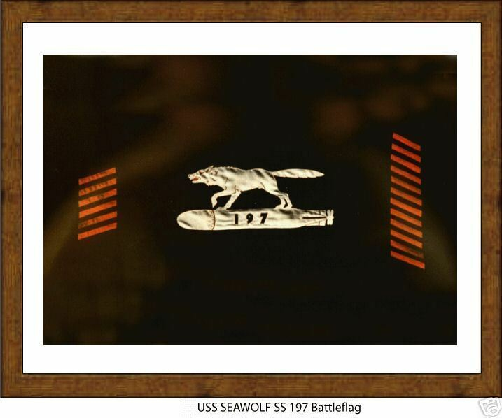 USS SEAWOLF SS 197 --WW2 Submarine Battle Flag,  US Naval,  USN Navy