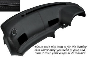 Details about BLACK LEATHER DASH DASHBOARD COVER FITS NISSAN SKYLINE GTS  GTR R32 89-94