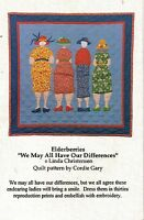 Jukebox Elderberries We May All Have Our Differences Quilt Pattern Uncut