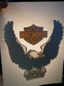 HARLEY DAVIDSON CYCLES EAGLE 1970's VINTAGE AMERICANA IRON ON TRANSFER B-9