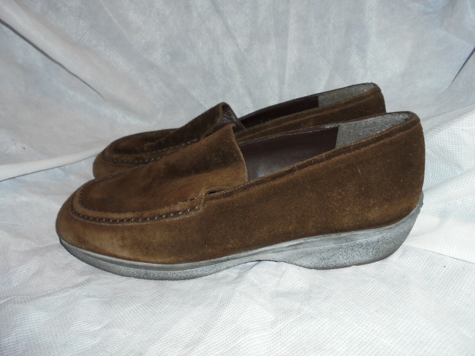 RUSSELL & BROMLEY WOMEN'S BROWN LEATHER SLIP ON SHOES SIZE US 8.5