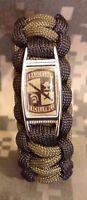 Custom U.s. Army Rotc 550 Paracord Survival Bracelet W/ Buckle