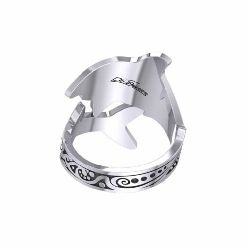 Aboriginal Shark Sterling Silver Ring by Peter Stone Unique fine Jewelry