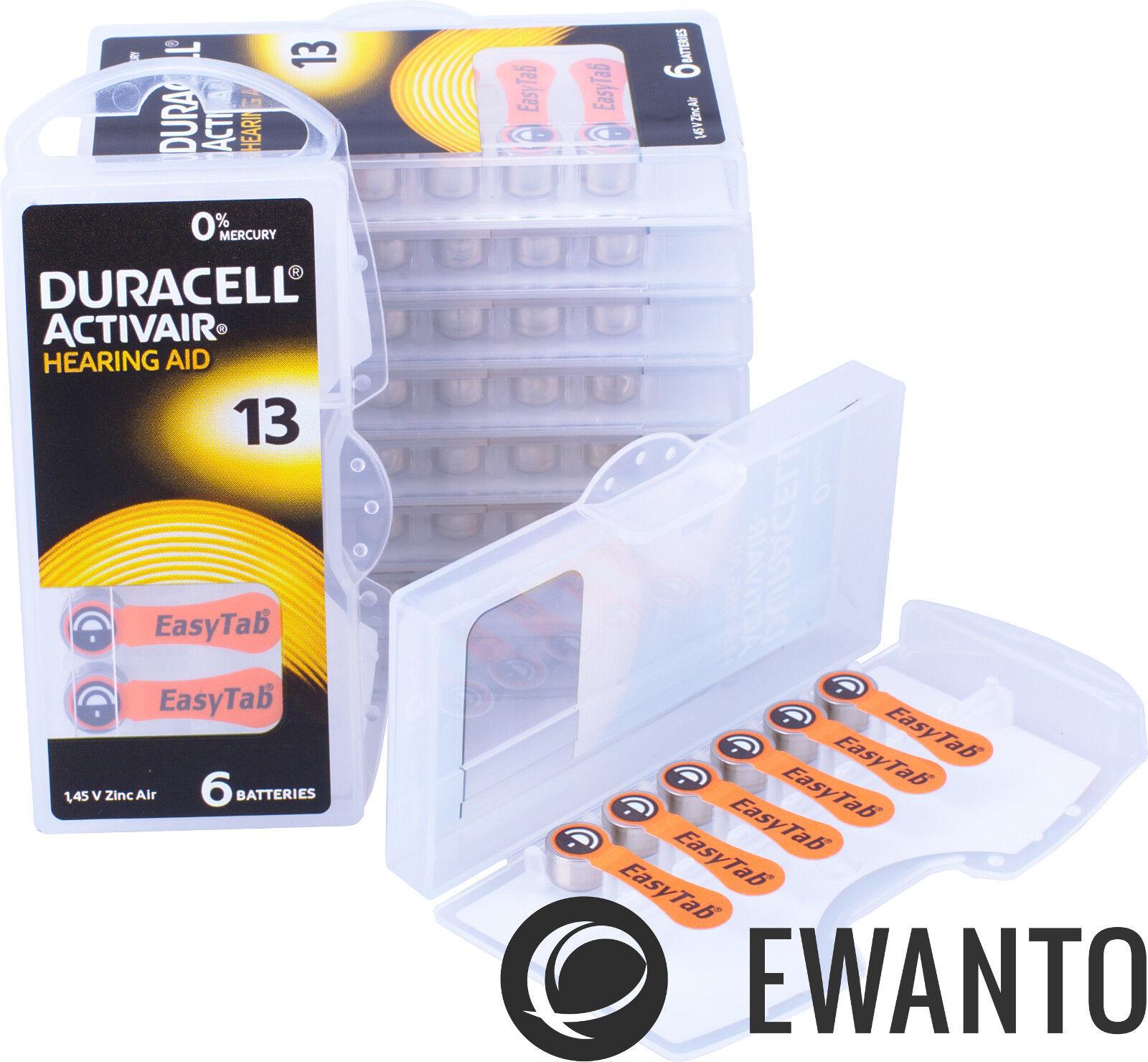 6 x Duracell Activair Hearing Aid Batteries 13 Hearing Aid 24606 6111 6er Blister
