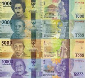 INDONESIA-SET-4-PCS-1000-2000-5000-10000-RUPIAH-2016-P-NEW-DESIGN-UNC