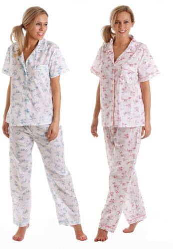 Ladies Pj/'S Pyjamas Short Sleeve Pink Blue Plus size 10//32 Floral Poly Cotton
