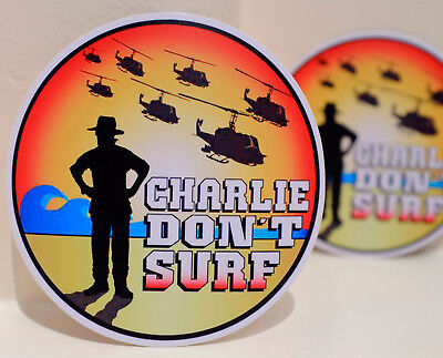 "Col Kilgore 4/"" Decal Sticker #3447 Charlie Don/'t Surf Movie Apocalypse Now Lt"