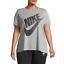 manga para 063 Nike Camiseta Futura de 3x ah2874 2x mujer corta plateada 1x gris de Plus A4wwY5qB