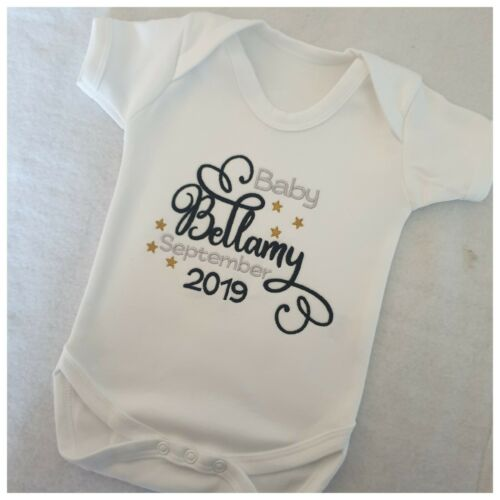 Gift Vest 2019 Personalised Baby Clothing Grow Birth Unisex
