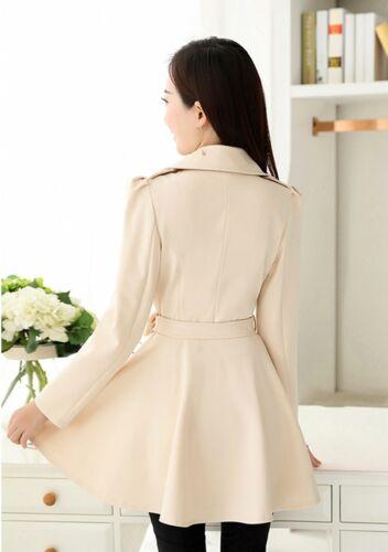 Belt Søde Outwear Slim Two Long Jacket Women's Windbreaker Buttons Coat Trench qO6gW1nn8a