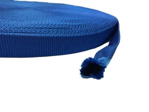 Bänder Röhrchen 20mm breit,10 Meter lang Gurtband aus Polypropylen BLAU