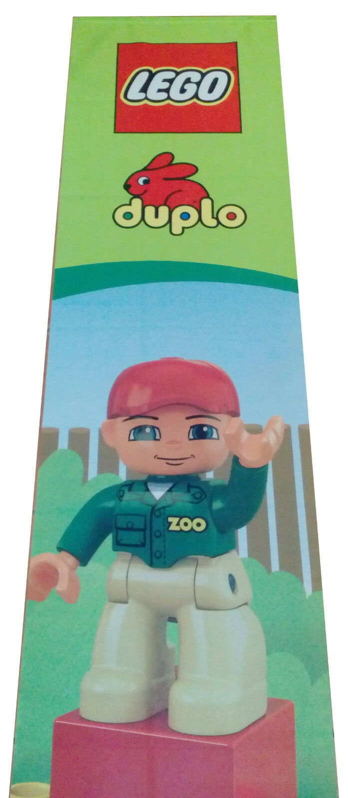 LEGO DUBLO BANNER 2m x 0.45m     0.8  x 0.2  USED FROM TOY STORE 435e2e