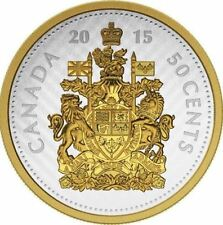 5 oz. Fine Silver Gold-Plated Coin – 2015 Big Coin Series: 50-cent Coin