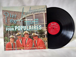 Four-Populaires-LP-Dance-the-Night-Away-with-The-Signed-Rare-Florida-RCA-Custom