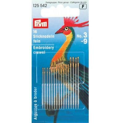 High Quality Prym Sewing Needles 20 sharps No.3-7  assorted with gold eye