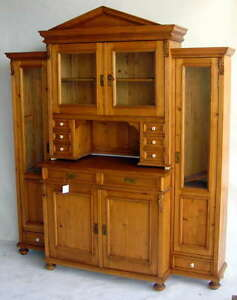 Antique-Bibliotheque-en-Pin-French-Bookcase-210x184x50cm-C1850