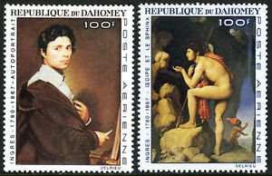 Dahomey-C49-C50-MNH-Paintings-by-Dominique-Ingres-French-painter-1967