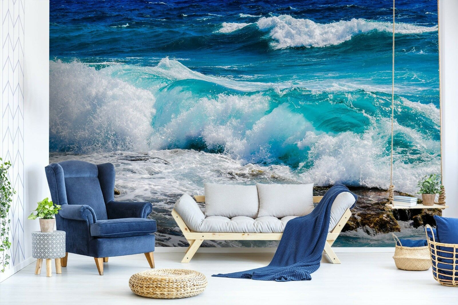 3D Sea Waves 7080 Wall Paper Murals Wall Print Wall Wallpaper Mural AU Summer