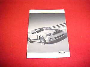 MUSTANG 2013 FORD BOSS 302 OWNERS MANUAL OWNER/'S BOOK