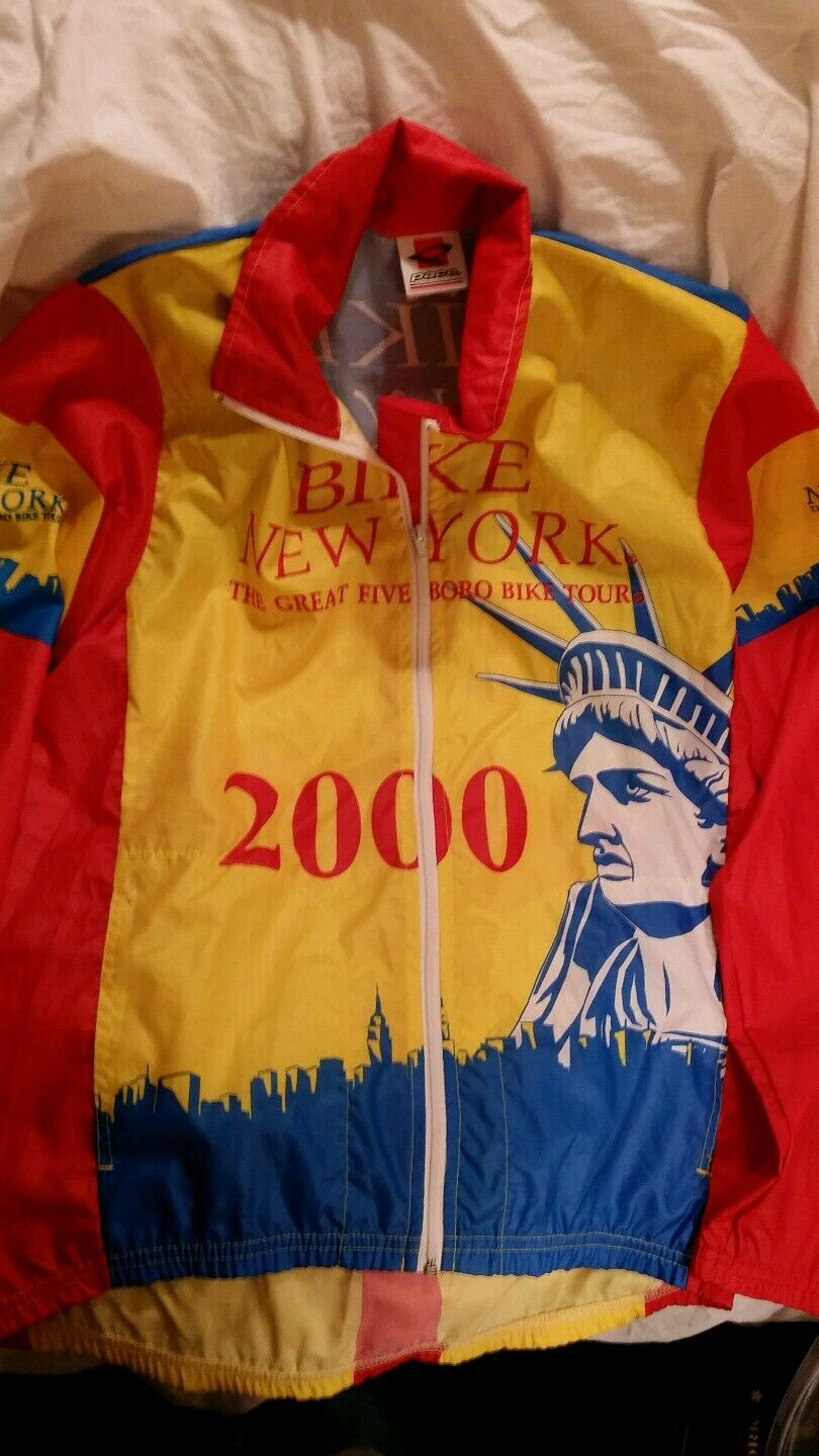 RARE Bike New York 2000 windbreaker - New York City Skyline with Liberty