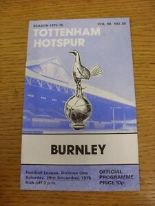 29111975 Tottenham Hotspur v Burnley  Writing Throughout - Birmingham, United Kingdom - Returns accepted within 30 days after the item is delivered, if goods not as described. Buyer assumes responibilty for return proof of postage and costs. Most purchases from business sellers are protected by the Consumer Contr - Birmingham, United Kingdom