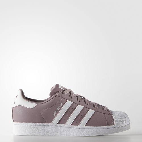 Adidas Originals Superstar S75131 Women's whiteh Purple White Comfort Rare