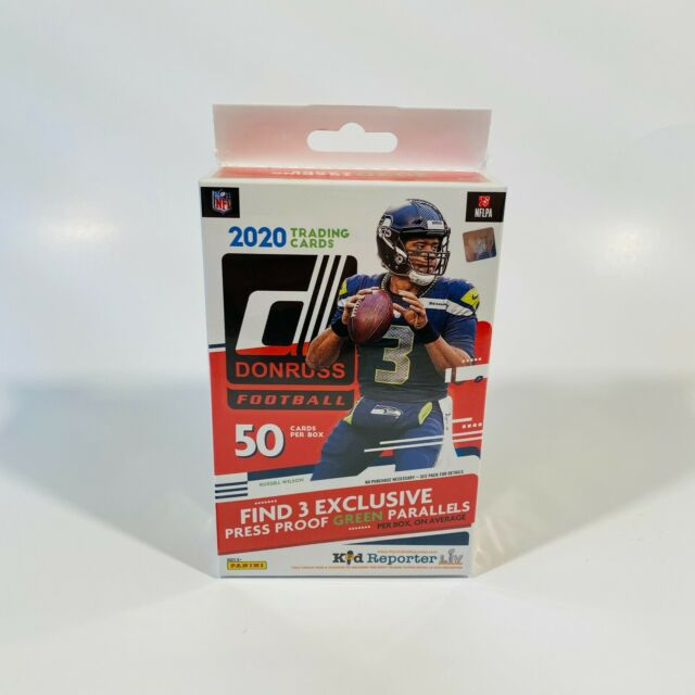 2020 Panini Donruss Football Hanger Box Red Target Exclusive SEALED 50 Cards