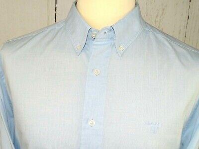 """Desinger Gant Mens Shirt, Light Clue Long Sleeve Button Down 16.5"""" Collar Uk L Reichhaltiges Angebot Und Schnelle Lieferung"""