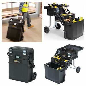 Image Is Loading NEW 4n1 Rolling Portable Toolbox Chest Tool Box