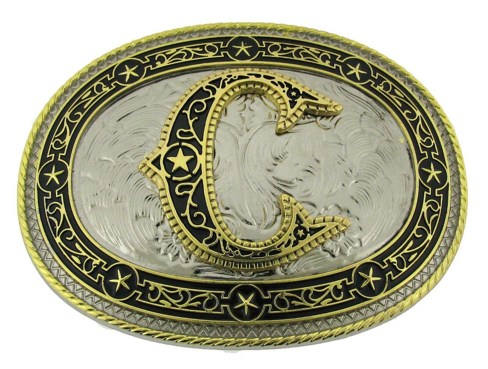 Erste Brief C Gürtelschnalle Western Rodeo Texas Stil Groß Neu Azteken Design