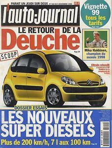 L-039-AUTO-JOURNAL-1998-n-502-Citroen-C3-Seat-Toledo-VW-Lupo-Honda-Accord-Audi-TT