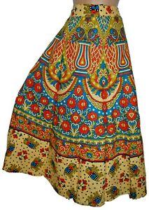 Indian Floral Boho Summer Cotton Skirt