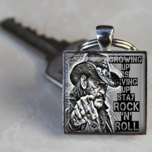 Lemmy-Motorhead-Keyring-Lemmy-Kilmister-Stay-Rock-n-Roll-Unique-gift-handmade
