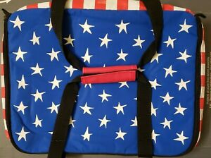 """Pyrex Insulated Carrier 9×12"""" Red White Blue Star Spangled Banner American Flag"""