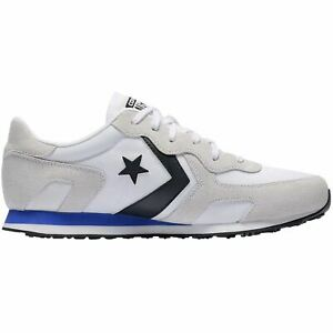 Details zu Converse Thunderbolt Ox White Hyper Royal Mens Suede Mesh Low top Trainers