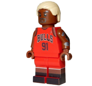 Lego Minifigure Sports Fan Basketball Bulls