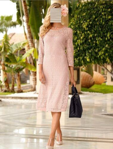 52 Gr Marken 0616748622 Rose Spitzen Kleid qYPSB