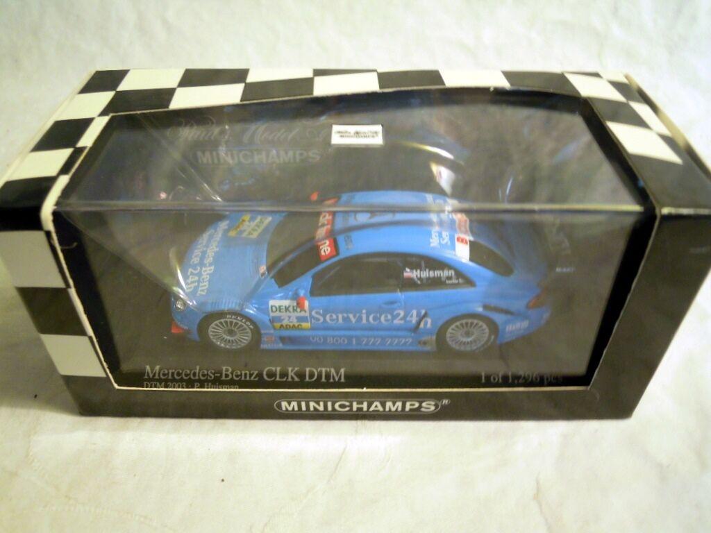 Minichamps 400033224  MERCEDES CLK Coupé, DTM 2003 P. Huisman  24, NUOVO & OVP