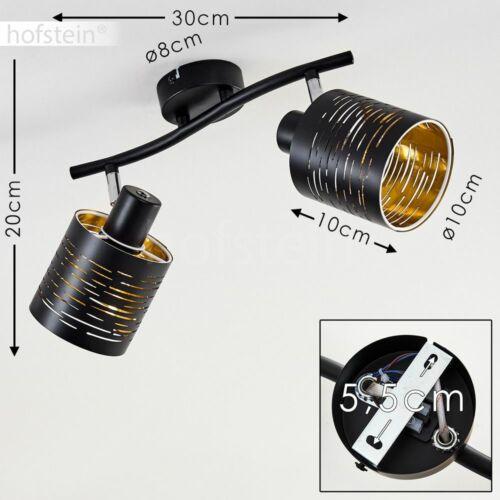 verstellbarer Flur Strahler Wohn Schlaf Zimmer Leuchte schwarz//Gold Decken Lampe
