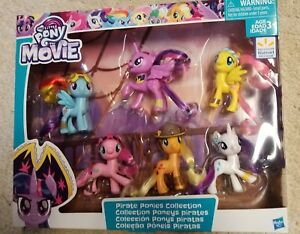 my little pony the movie pirate ponies brushable mane 6 pack walmart