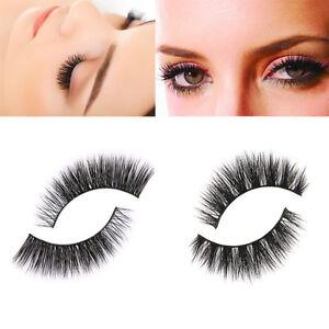 ffa14814d07 100% Real 3D Mink Natural Thick False Fake Eyelashes Eye Lashes ...