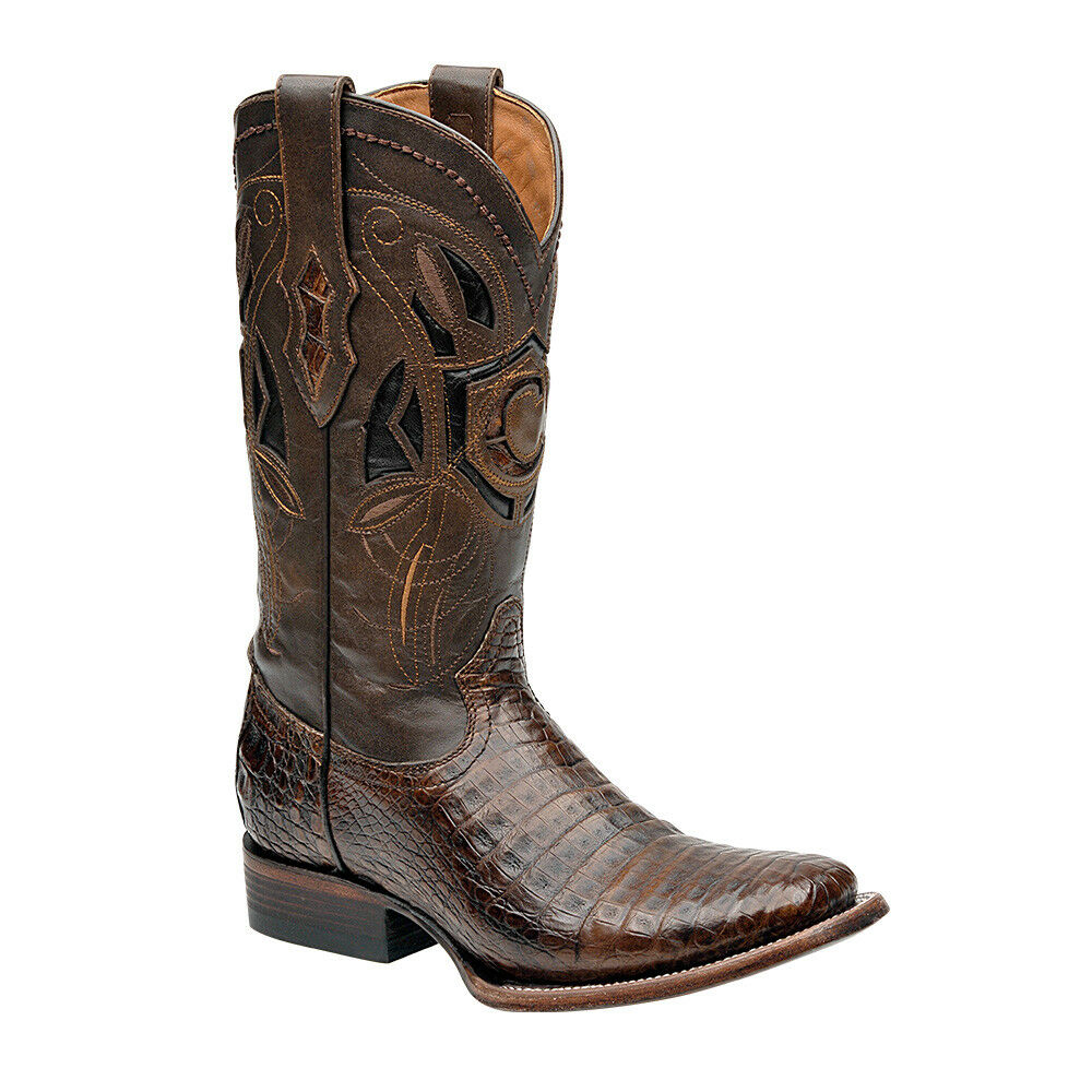 2P02FY Crocodile Rodeo Western boots made by by by Cuadra boots 7c1970