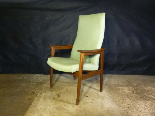 EB400 Danish Teak High-Backed Lounge Chair Vintage Retro Mid-Century Modern