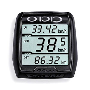 ciclosport cm 4  Ciclosport cm 4.11 Blackline Wireless Cycle Computer Tachometer Bike ...