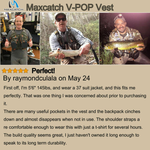 multi poches et taille ajustable Gilet de pêche à la mouche Maxcatch