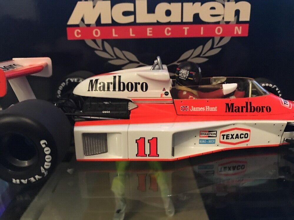 James Hunt M23 Minichamps Marlbgold McLaren British Gp 76 full Detail WC Box