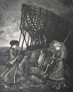 Original-signed-surrealist-collage-antique-surreal-goth-gothic-Victorian-art